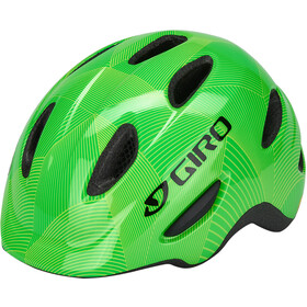 Giro Scamp MIPS Casco Niños, green/lime lines